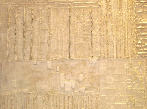 """Total White"" a textured art panel"