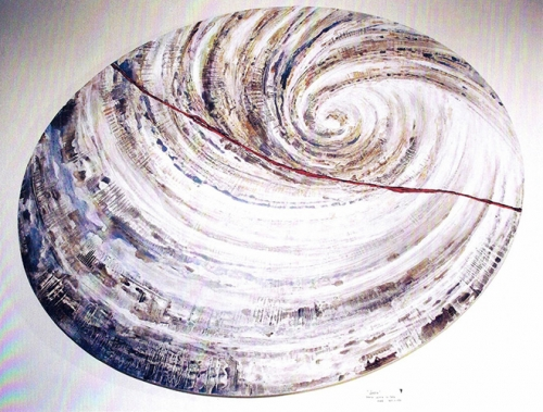 """Vortex"" Oval Art Panel - Private Home"