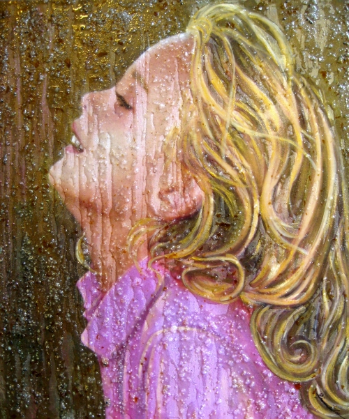 """Portrait of a young girl"" canvas art panel"